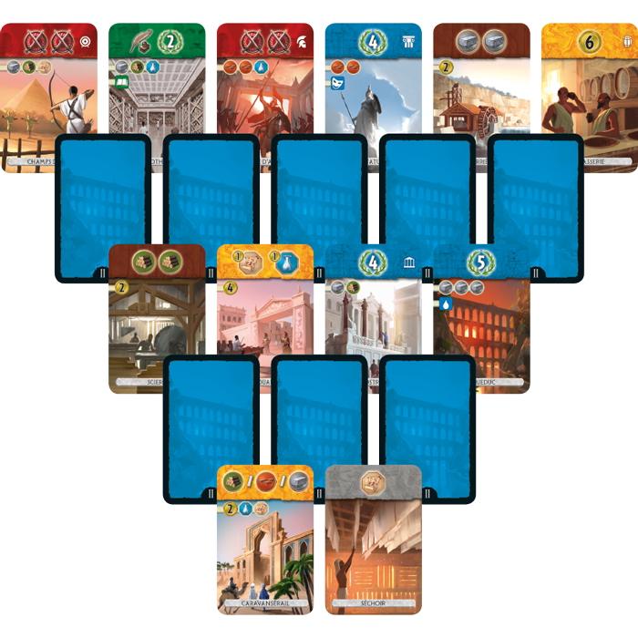 Voici un exemple de disposition des cartes au début du deuxième âge.