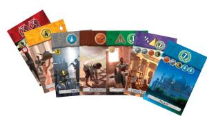 On retrouve plus ou moins le même genre de cartes que dans le jeu de base.