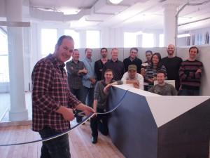 Les employés d'Avalanche inaugurent leur nouveau studio new-yorkais.