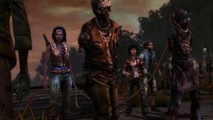 Les zombies en laisse, le signature move de Michonne.