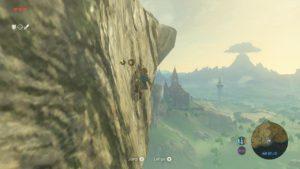 Link peut désormais tout escalader ou presque. Il est limité par une jauge d'endurance.