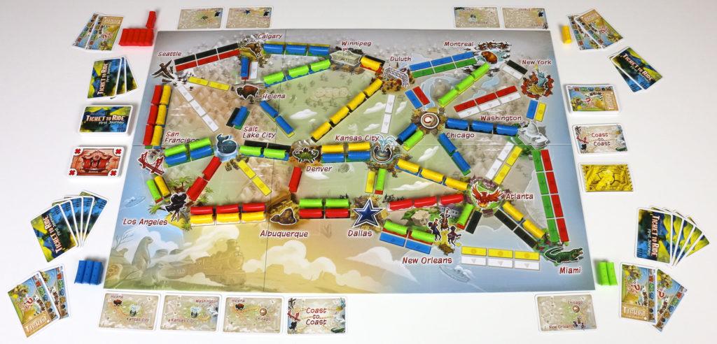 On joue aux États-Unis, mais Days of Wonder aimerait rapidement proposer un plateau Europe dans la même veine.