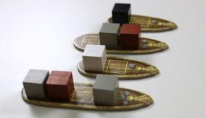 Les bateaux ne peuvent pas partir sans un nombre minimum de blocs à leurs bords.
